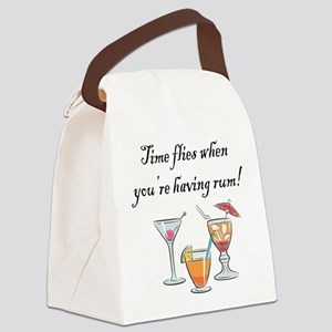 WHEN YOURE HAVING RUM Canvas Lunch Bag