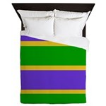 Mardi Gras Stripes Queen Duvet
