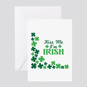Kiss Me Im Irish Greeting Cards
