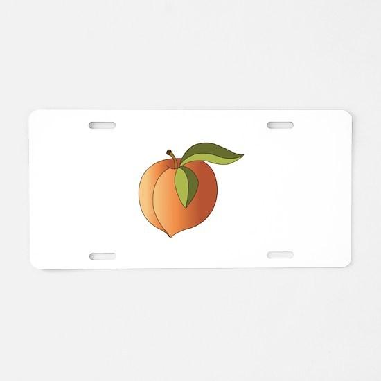 Ripe Peach Aluminum License Plate