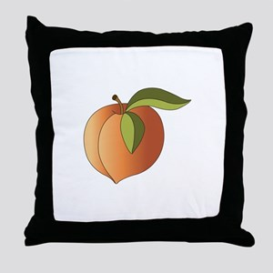 Ripe Peach Throw Pillow