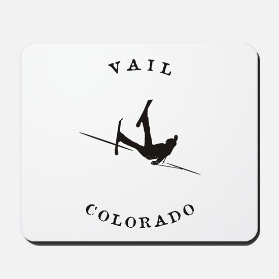 Vail Colorado Funny Falling Skier Mousepad