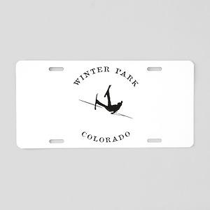 Winter Park Colorado Funny Falling Skier Aluminum