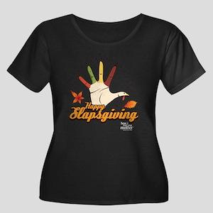 HIMYM Sl Women's Plus Size Scoop Neck Dark T-Shirt