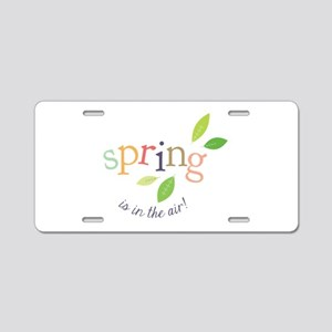 Spring In The Air Aluminum License Plate