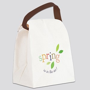 Spring In The Air Canvas Lunch Bag