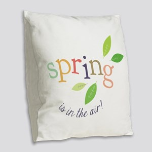 Spring In The Air Burlap Throw Pillow