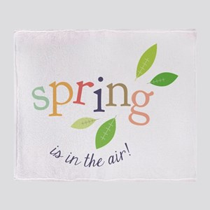 Spring In The Air Throw Blanket