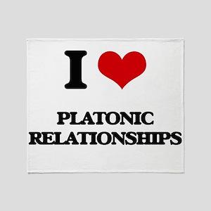 I Love Platonic Relationships Throw Blanket
