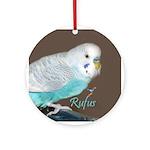 Rufus The Budgerigar Round 2014 Ornament (round)