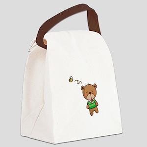Teddy Bear Bee Canvas Lunch Bag