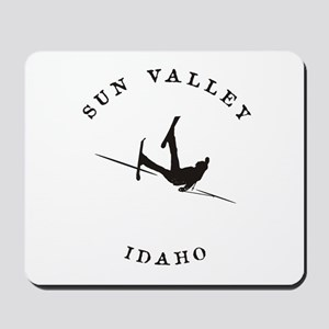 Sun Valley Idaho Funny Falling Skier Mousepad