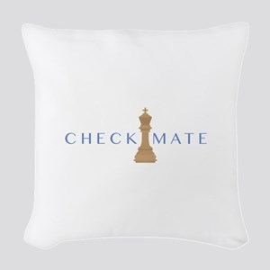 Checkmate Woven Throw Pillow