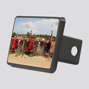Old farm tractors machiner Rectangular Hitch Cover