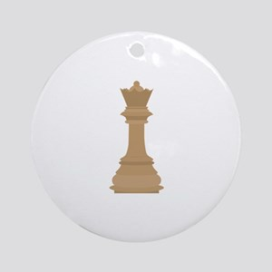 Chess Queen Ornament (Round)