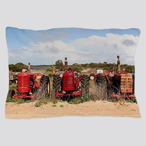 Old farm tractors machinery in country Pillow Case