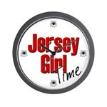 Jersey Girl Time Wall Clock