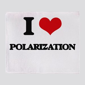 I Love Polarization Throw Blanket