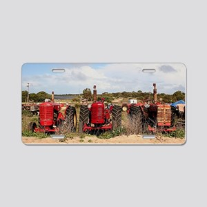 Old farm tractors machinery Aluminum License Plate