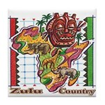 Zulu Country Tile Coaster