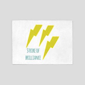 lightning_strike of brilliance 5'x7'Area Rug