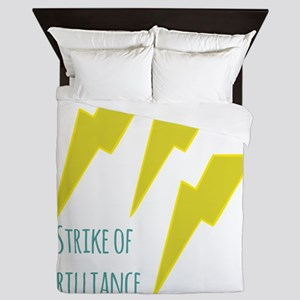 lightning_strike of brilliance Queen Duvet