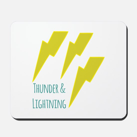 lightning_thunder and lightning Mousepad