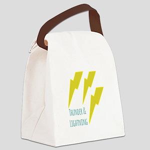 lightning_thunder and lightning Canvas Lunch Bag