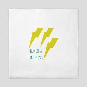 lightning_thunder and lightning Queen Duvet