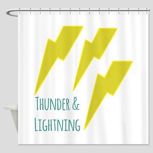 lightning_thunder and lightning Shower Curtain