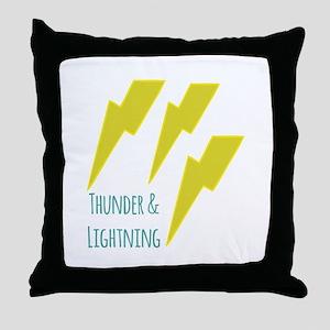 lightning_thunder and lightning Throw Pillow