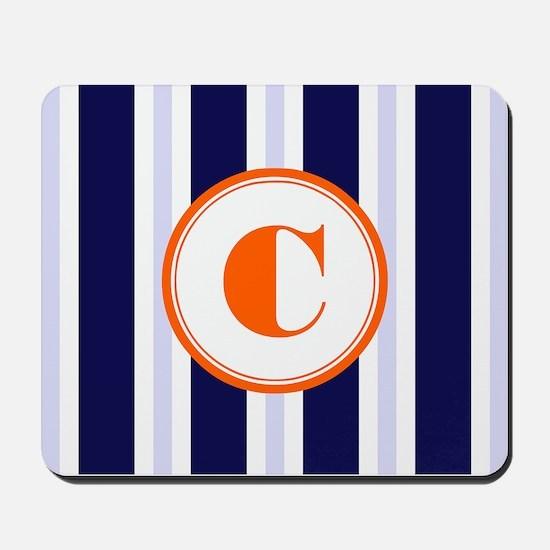 Orange C Monostripe Mousepad