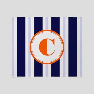 Orange C Monostripe Throw Blanket