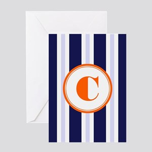 Orange C Monostripe Greeting Cards