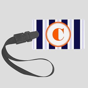 Orange C Monostripe Large Luggage Tag