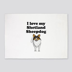 I Love My Shetland Sheepdog 5'x7'Area Rug