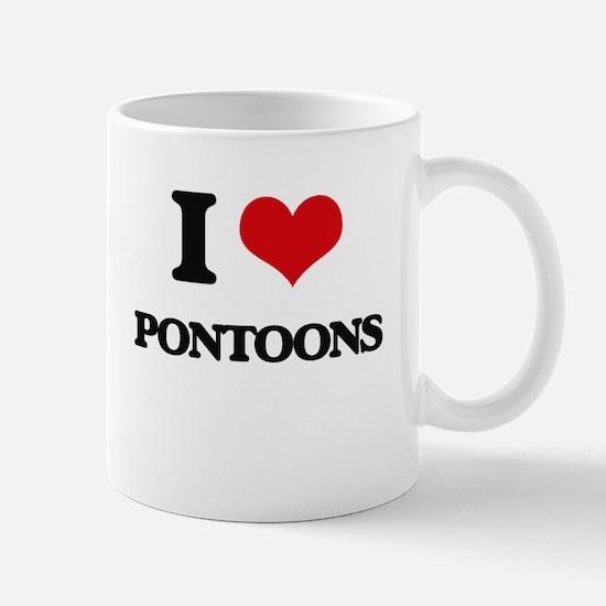I Love Pontoons Mugs
