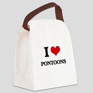 I Love Pontoons Canvas Lunch Bag