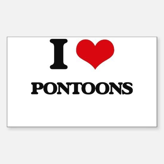 I Love Pontoons Decal