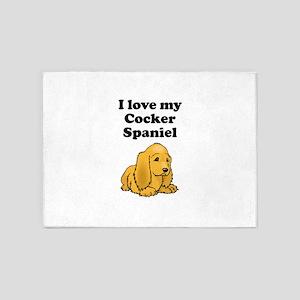 I Love My Cocker Spaniel 5'x7'Area Rug