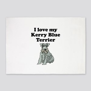 I Love My Kerry Blue Terrier 5'x7'Area Rug