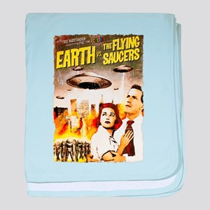 Earth vs. the Flying Saucers grunge baby blanket