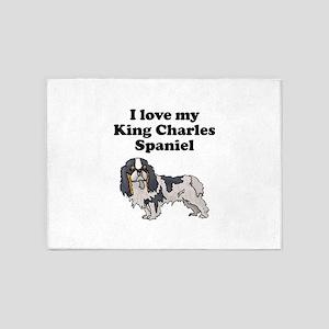 I Love My King Charles Spaniel 5'x7'Area Rug