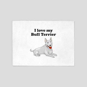 I Love My Bull Terrier 5'x7'Area Rug