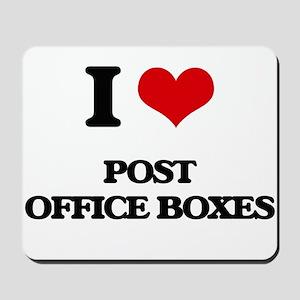I Love Post Office Boxes Mousepad