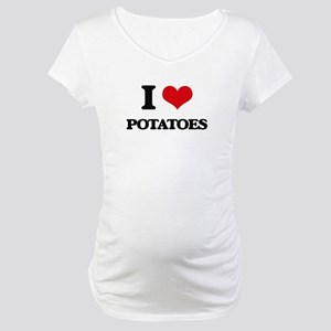 I Love Potatoes Maternity T-Shirt