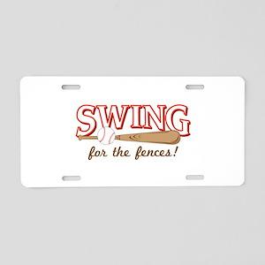 Swing Fences Aluminum License Plate