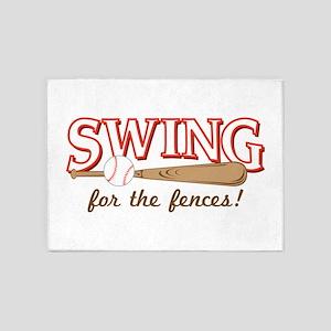 Swing Fences 5'x7'Area Rug
