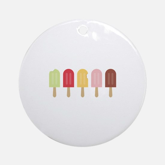 Popsicle Border Ornament (Round)