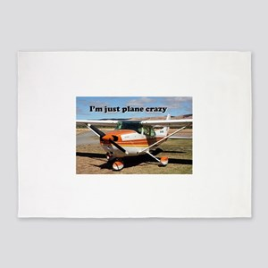 I'm just plane crazy: high wing 5'x7'Area Rug